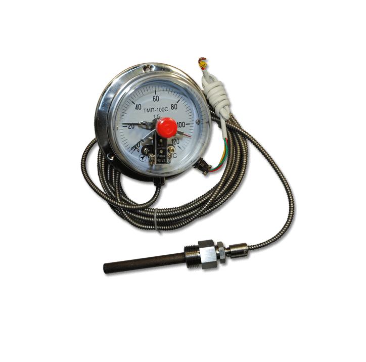 Термометры манометрические показывающие сигнализирующие ТМП-100С