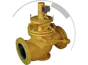 Предохранительные запорные клапаны с электромагнитным исполнительным механизмом ПКН э (ПКВ э)
