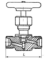 Клапан запорный проходной 15с54бк