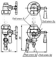 Запорное устройство указателя уровня кранового типа 12Б2бк