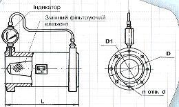 чертеж газового фильтра