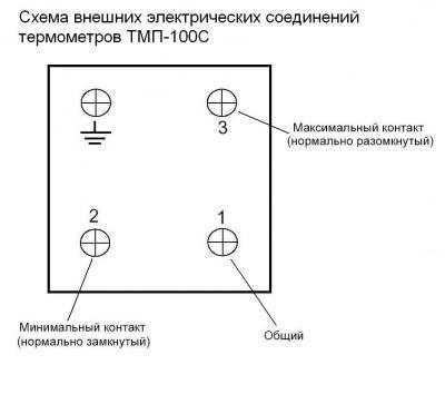 Схема внешних электрических соединений ТМП 100 С