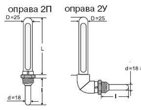 оправа для термометра схема