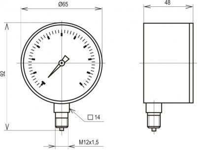 схема тягонапоромера МТ 2