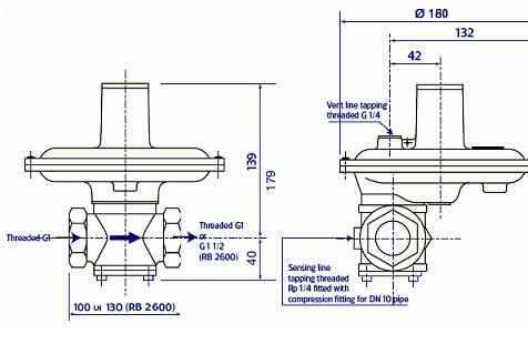 Регуляторы серии RB 2000 с ПЗК (Вес: 2,0 кг.)