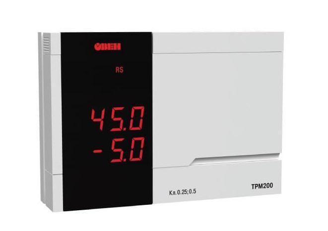 Измеритель двухканальный с интерфейсом RS-485 ТРМ 200 ОВЕН