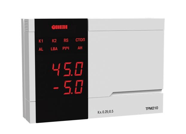 Измеритель ПИД-регулятор с интерфейсом RS-485 ТРМ210 ОВЕН