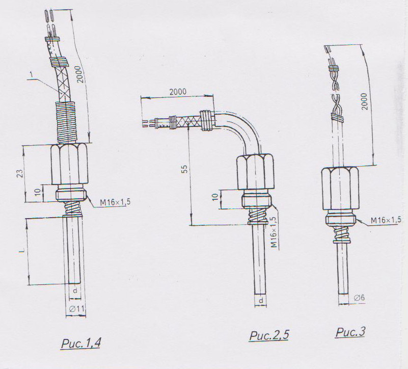 Преобразователь термоэлектрический ТХК схема