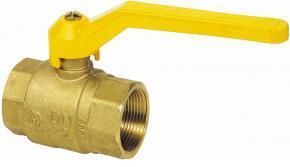 Шаровый кран газовый никелированный с алюминиевой рукояткой (внутренняя-внутренняя резьба)
