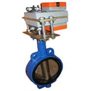 Затворы дисковые поворотные «баттерфляй» с электроприводом на воду