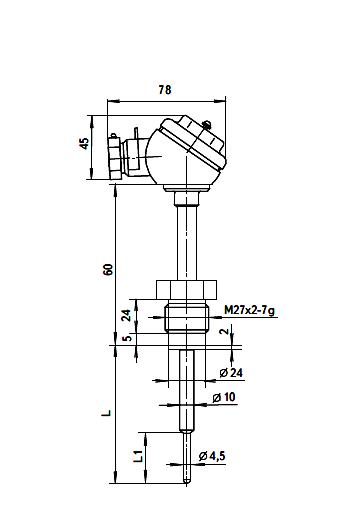 Термопреобразователь сопротивления ТСП-8041Р