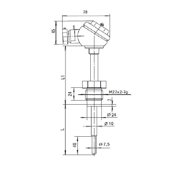 Термопреобразователи сопротивления ТСП-8040Р, ТСМ-8040Р