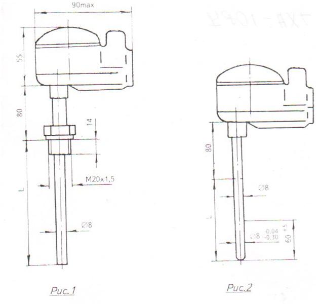 Схема 1 преобразователи термоэлектрические ТХА,ТХК 1087