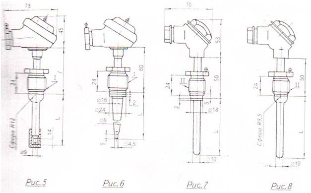 Схема 2 Преобразователи термоэлектрические ТХА1172Р,ТХК1172Р