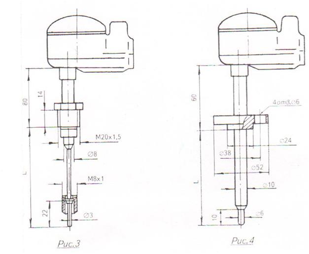 Схема 2 преобразователи термоэлектрические ТХА,ТХК 1087