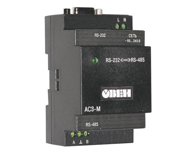АС3-М. Автоматичний перетворювач інтерфейсів RS-232 / RS-485